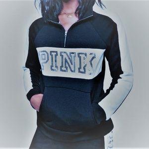 L VS BLING PERFECT QUARTER-ZIP pullover sweatshirt